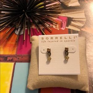 Sorrelli Fools Gold Line Stud Earrings